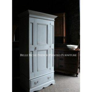 Gustavian Grey Single Wardrobe
