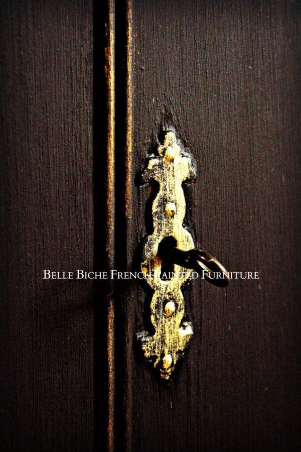 George III Style Four Door Parisian Noir Breakfront Sideboard