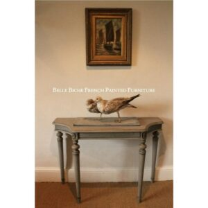 George III Style 'French Ash Grey' Concave Console