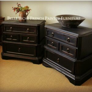 Pair of Four Drawer Continental Chest Commodes