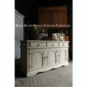 Rustic Three Door Oak Dresser Base