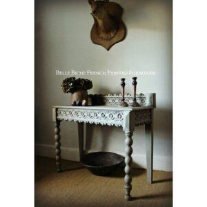Richly Carved Flemish Antique Side Table