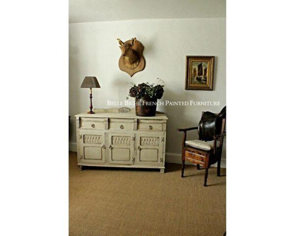 Three Door Solid Oak Dresser Base