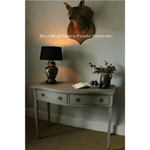 Two Drawer Serpentine Console