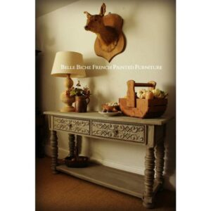 Continental 'French Ash Grey' Two Tier Table