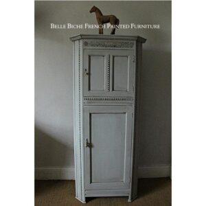 Handsome Edwardian Gustavian Grey Oak Corner Drinks Cabinet