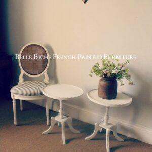 Bijou Pair of Original French Pedestal Side Tables