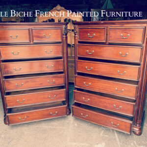 Outstanding Pair George III Style Lofty Chest Commodes