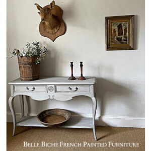 Rustic Style Gustavian Grey Two Tier Console
