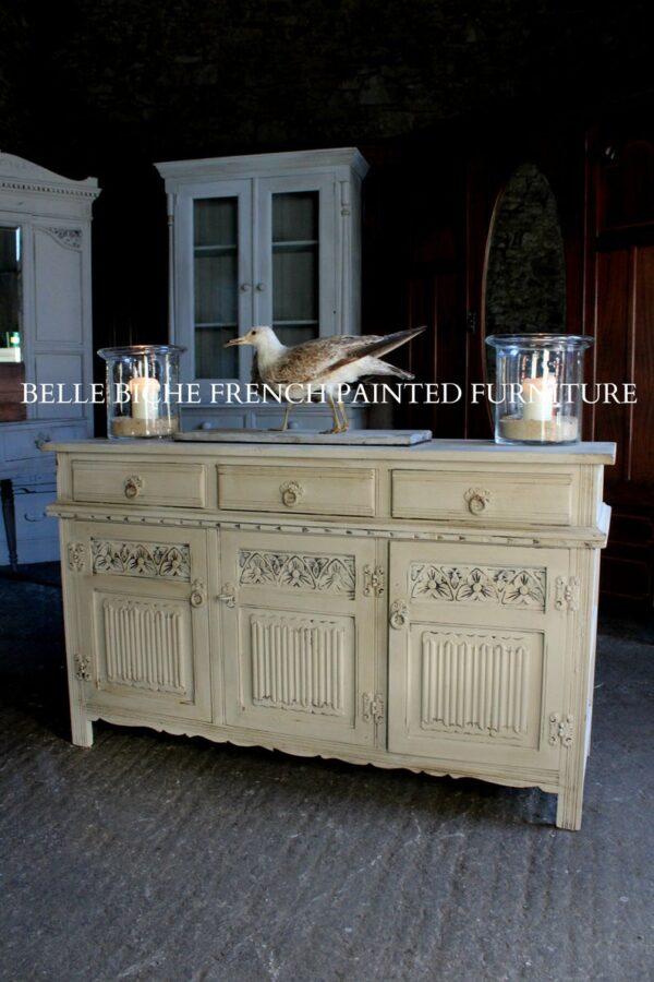 Three Door Jacobean Style Oak Dresser Base