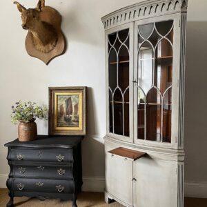 George III Style Glazed Corner Cabinet