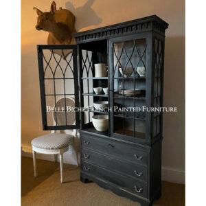George III Style Glazed Dresser in Parisian Noir
