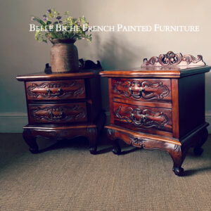 Large Pair French Style Nightstands