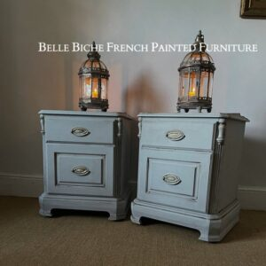 Pair of Bedside cabinets, Finished in Gustavian Grey