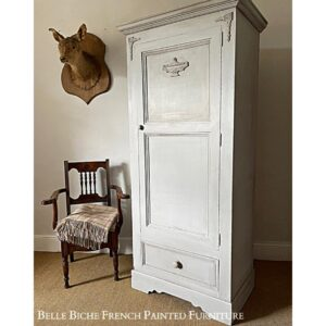 Spacious Gustavian Grey Single Wardrobe / Ideal Nursery / Hall Robe / Guest Wardrobe