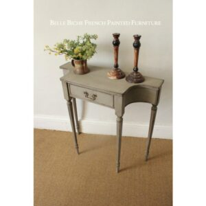 French Ash Grey Concave Side Table