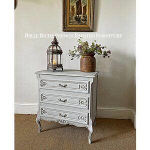 Original Provincial French Three Drawer Commode Chest