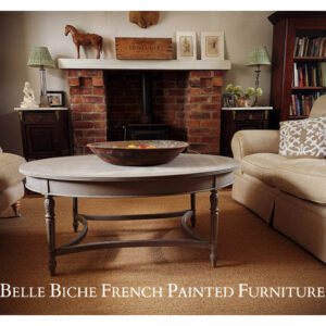 'French Ash Grey' Oval Coffee Table
