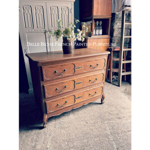 3-Drawer French Oak Chest Commode