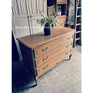 French Oak 3 Drawer Chest Commode