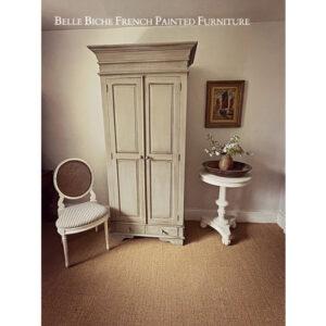 Rustic 'French Ash Grey' Handsome Two Door Wardrobe