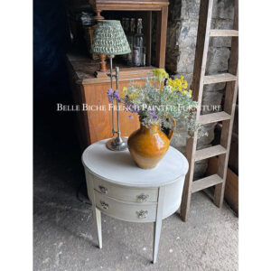 George III Style Two Drawer Oval Side Table