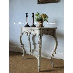 Gustavian Style Demi Lune Side Table