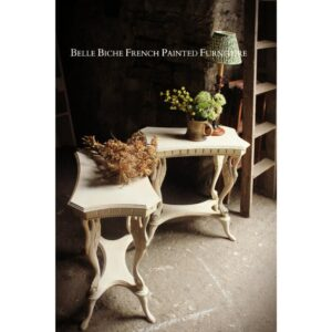 Ornate Weathered Oak Two Tier Side Tables