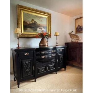 Parisian Noir Antique Bow Sideboard
